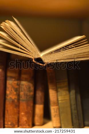 Vintage books - stock photo