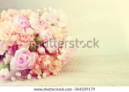 Vintage bouquet of roses