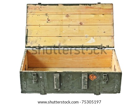 Vintage Box of ammunition opened. With Clipping Path