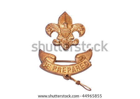Vintage Boy Scouts of America Badge isolated on white - stock photo