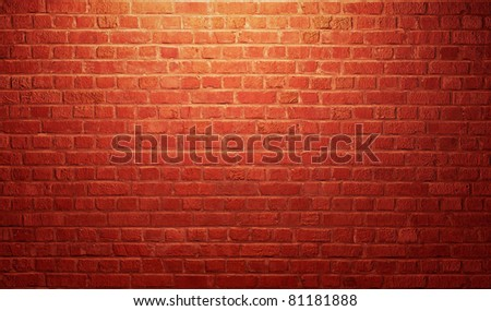 vintage brick wall - stock photo