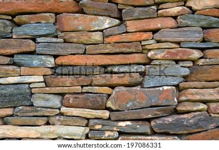 Vintage brick wall background - stock photo