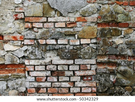 vintage brick wall; if you need some other backgrounds, search for them in my gallery - stock photo