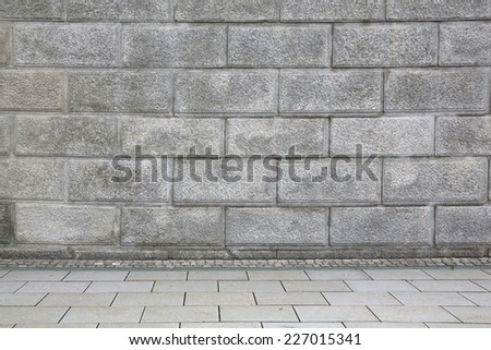 vintage brick wall interior. - stock photo
