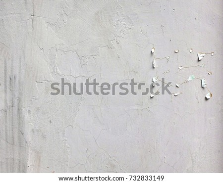 Vintage Brick Wall With White Damaged Plaster. BrickwallTexture Or Background. Whitewashed Wall In The Interior Made Of The Old Clay Bricks.