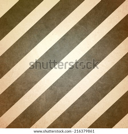 vintage brown beige background striped pattern, angled diagonal lines design element - stock photo