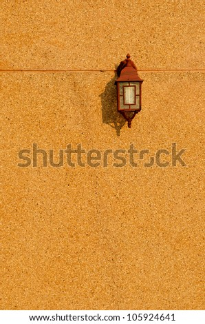 Vintage brown lamp interior with copy space - stock photo