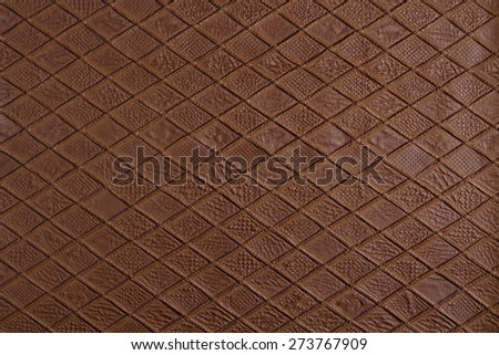 vintage brown leather - stock photo