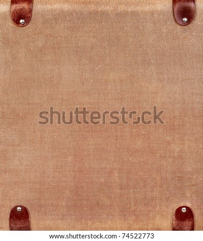 Vintage brown suitcase isolated over white background - stock photo