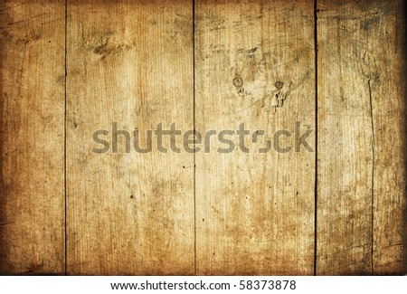 Vintage brown wooden planks background - stock photo