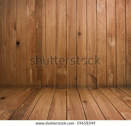 vintage brown wooden planks interior - stock photo