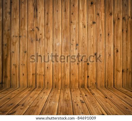 vintage brown wooden planks interior - stock photo