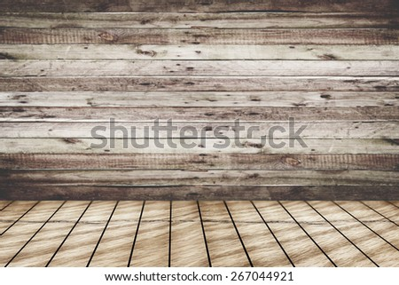 vintage brown wooden planks interior background - stock photo