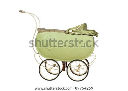 Vintage buggy isolated on a white background - stock photo