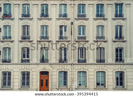 Vintage building facade.  - stock photo