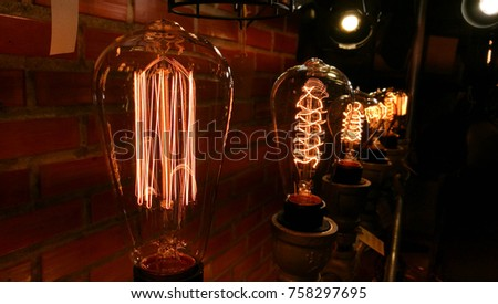vintage bulb and lamp