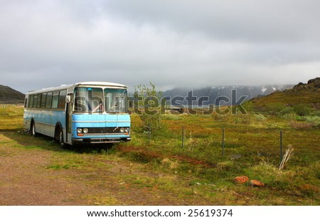 vintage bus, Syltefjord, Norway