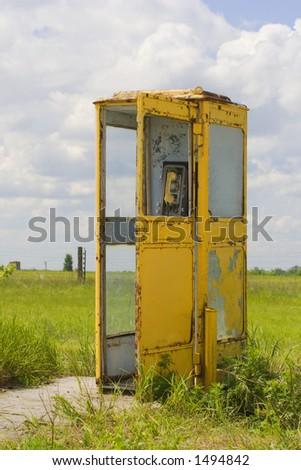 vintage call-box - stock photo