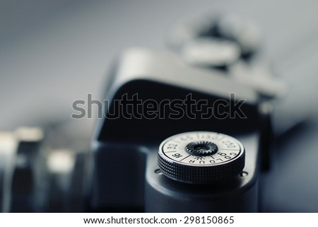 Vintage camera photo story details - stock photo