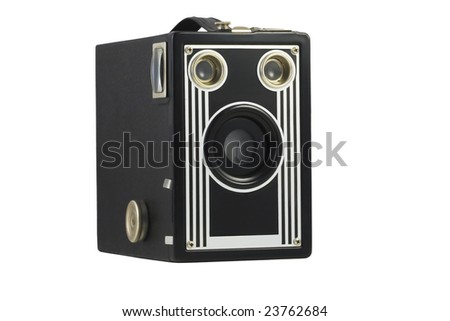 Vintage Camera with clipping path
