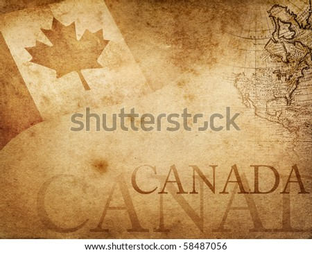 Vintage Canada - stock photo