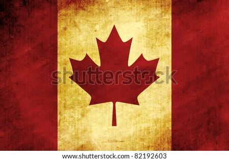vintage canada flag - stock photo