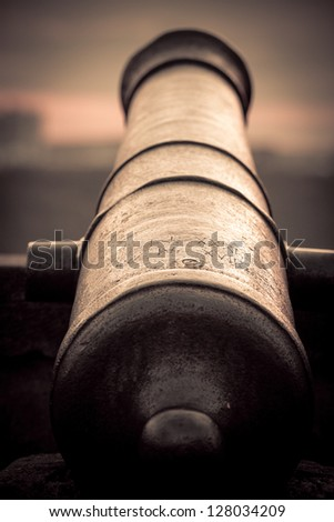 Vintage canon - stock photo