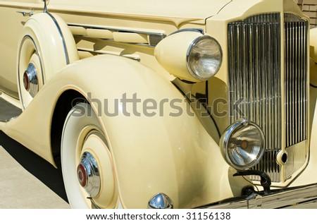 Vintage Car Detail - stock photo