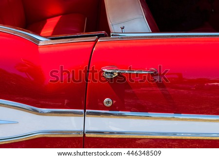 Vintage car door detail