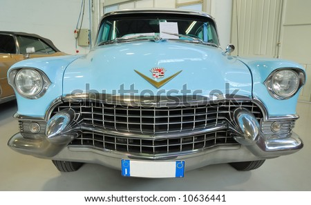 Vintage car. Front view. - stock photo