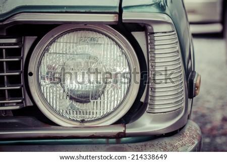 Vintage Car Headlight, process color - stock photo