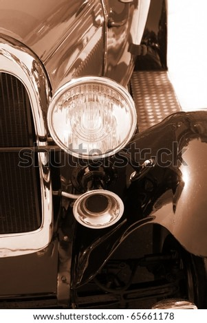 Vintage car - sepia - stock photo