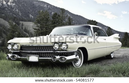 Vintage Car with muted colors - stock photo