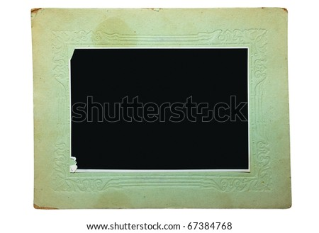 Vintage cardboard frame isolated on white background