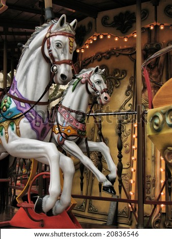 Vintage carousel - stock photo