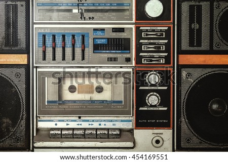 vintage cassette player background