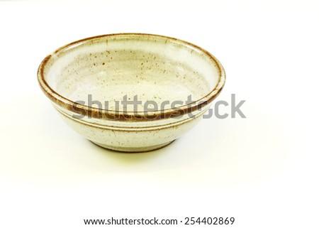 Vintage ceramic bowl - stock photo