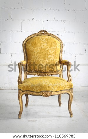 vintage chair in the room - stock photo