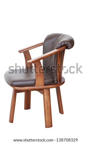 vintage chair isolated on white.
