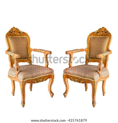Vintage chair. Isolated on white with clipping path