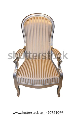 Vintage chair isolated with clipping path included