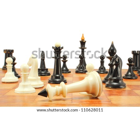 vintage chess - stock photo