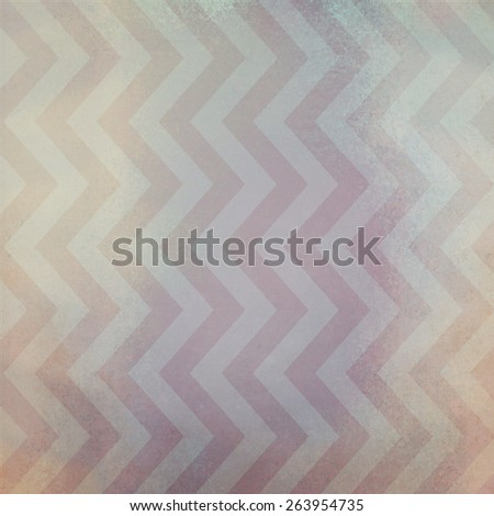 vintage chevron striped background pattern with dirty stained brown grunge texture and purple and white color zig zag lines - stock photo