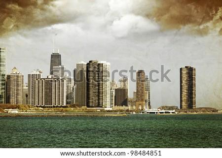 Vintage Chicago - stock photo