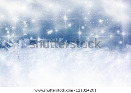 Vintage Christmas background with copy space - stock photo
