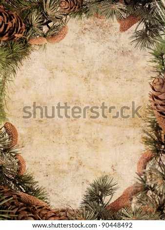 Vintage Christmas card for your text - stock photo