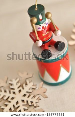 Vintage Christmas decoration - stock photo