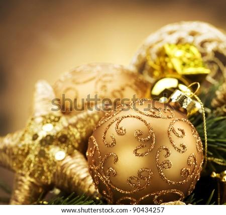 Vintage Christmas Decorations - stock photo