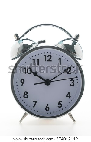 Vintage Classic Alarm clock isolated on white background