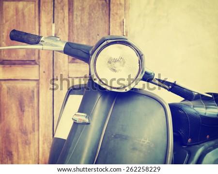 vintage classic motorcycle,  instagram retro effect - stock photo